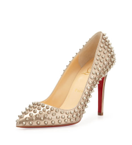 Christian Louboutin Pigatelle Spikes in Gold