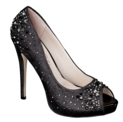 Target De Blossom Nadine Jeweled Peep Toe in Black