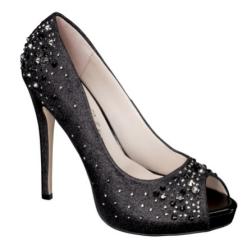 Target De Blossom Nadine Jeweled Peep Toe in Black